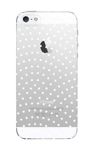 iPhoneSEのクリア(透明)ケース、鮫小紋【スマホケース】