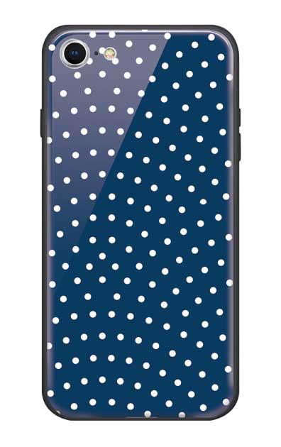 iPhone7のガラスケース、鮫小紋【スマホケース】
