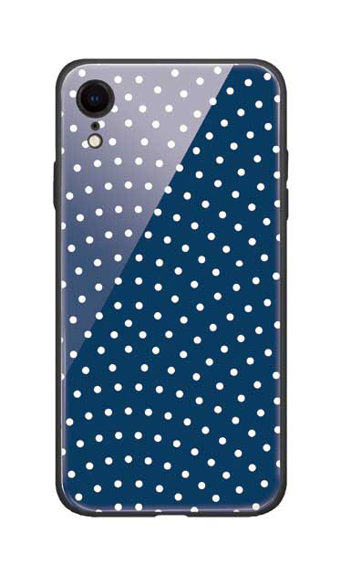 iPhoneXRのガラスケース、鮫小紋【スマホケース】