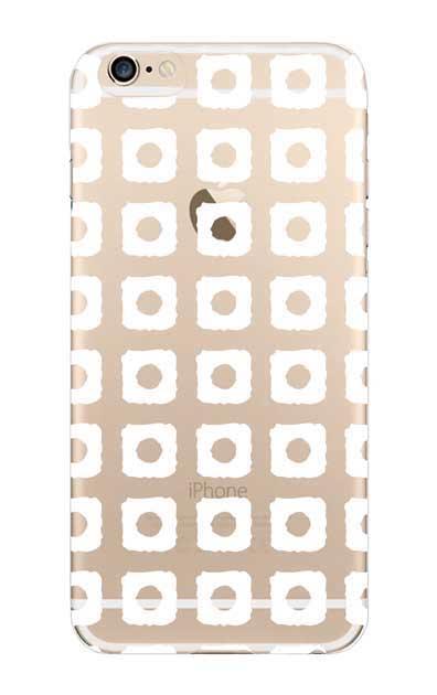 iPhone6sのクリア(透明)ケース、鹿の子絞り【スマホケース】