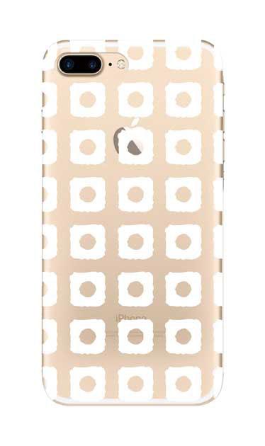 iPhone7 Plusのクリア(透明)ケース、鹿の子絞り【スマホケース】