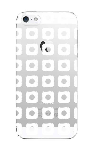 iPhoneSEのクリア(透明)ケース、鹿の子絞り【スマホケース】