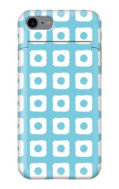 iPhone7のミラー付きケース、鹿の子絞り【スマホケース】