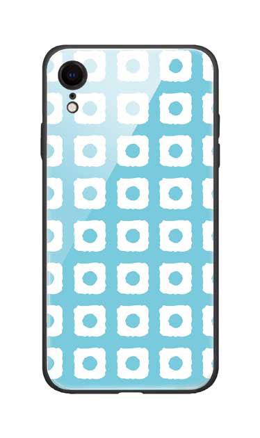 iPhoneXRのガラスケース、鹿の子絞り【スマホケース】