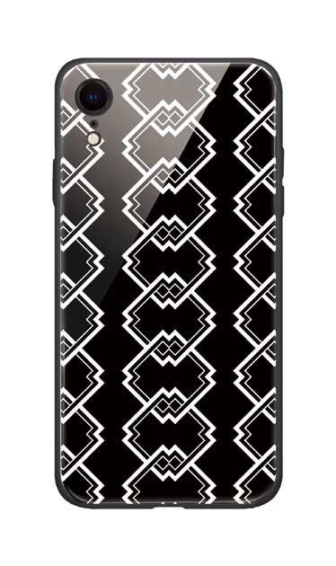 iPhoneXRのガラスケース、吉原繋ぎ【スマホケース】