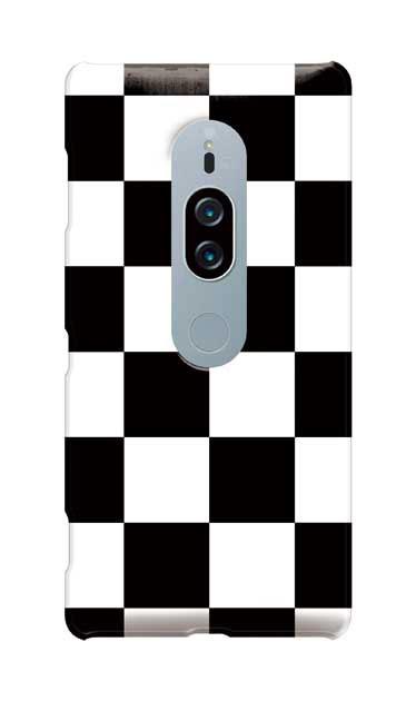 Xperia XZ2 Premiumのケース、市松文様【スマホケース】