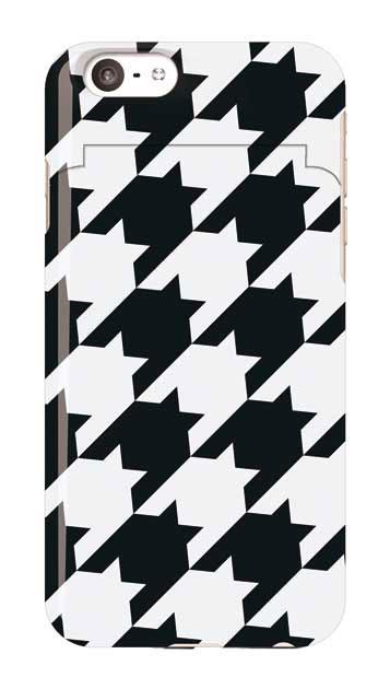 iPhone6sのミラー付きケース、千鳥格子【スマホケース】