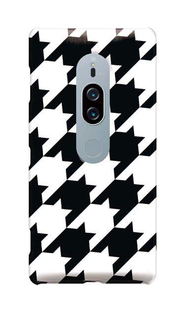 Xperia XZ2 Premiumのケース、千鳥格子【スマホケース】