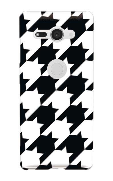 Xperia XZ2 Compactのケース、千鳥格子【スマホケース】