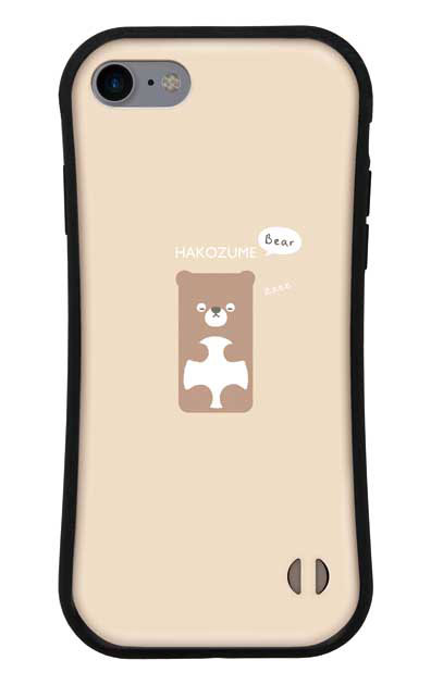 iPhone8のグリップケース、おひるね中の、はこづめベアー【スマホケース】