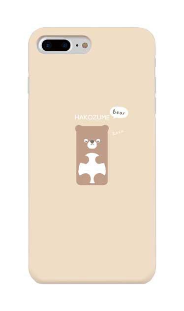 iPhone8 Plusのケース、おひるね中の、はこづめベアー【スマホケース】
