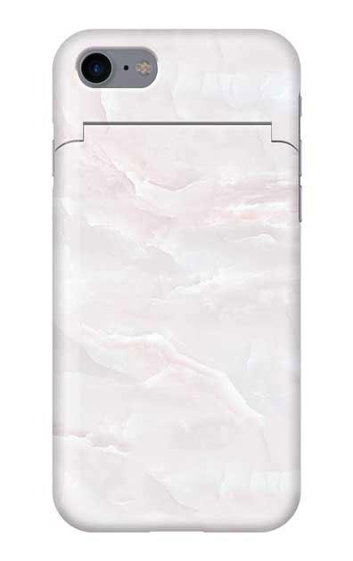 iPhone8のミラー付きケース、クリスタルマーブル【スマホケース】