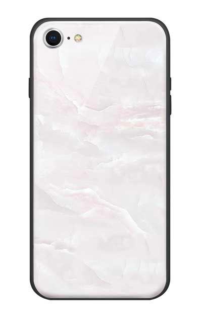 iPhone8のガラスケース、クリスタルマーブル【スマホケース】