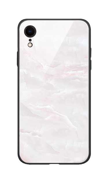 iPhoneXRのガラスケース、クリスタルマーブル【スマホケース】
