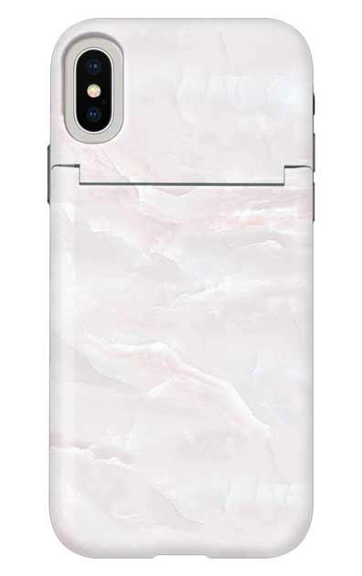 iPhoneXSのミラー付きケース、クリスタルマーブル【スマホケース】