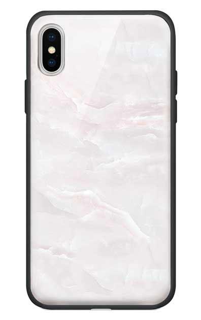 iPhoneXSのケース、クリスタルマーブル【スマホケース】