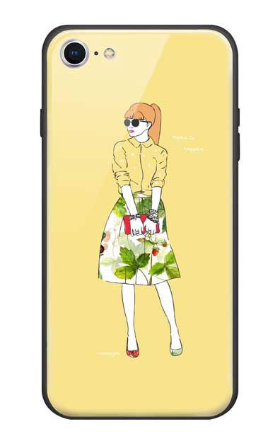 iPhone8のガラスケース、モードガール「Make it happen」【スマホケース】