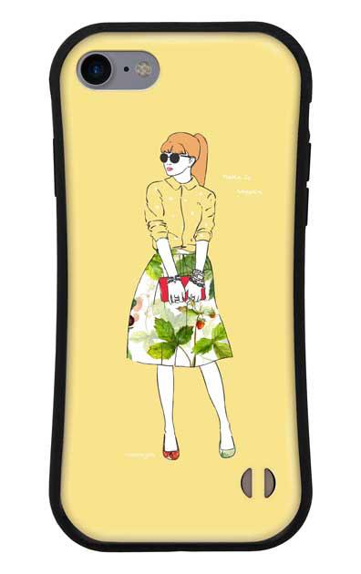 iPhone8のグリップケース、モードガール「Make it happen」【スマホケース】