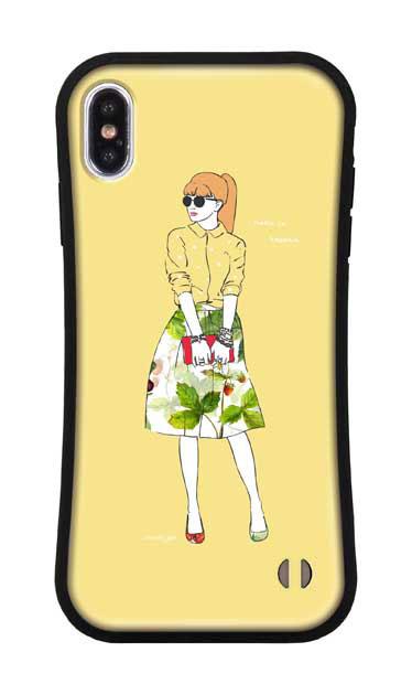 iPhoneXS Maxのグリップケース、モードガール「Make it happen」【スマホケース】