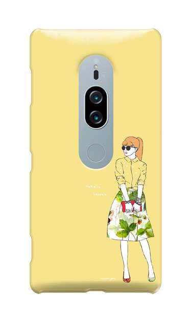 Xperia XZ2 Premiumのケース、モードガール「Make it happen」【スマホケース】