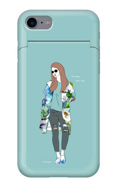 iPhone7のミラー付きケース、モードガール「Do what you love」【スマホケース】