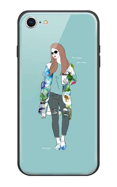 iPhone7のガラスケース、モードガール「Do what you love」【スマホケース】