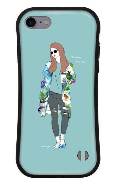 iPhone7のグリップケース、モードガール「Do what you love」【スマホケース】
