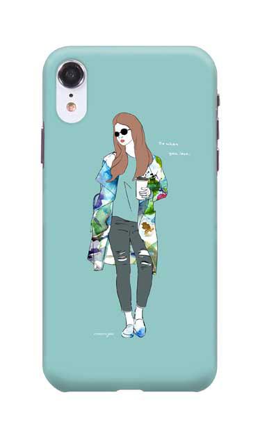 iPhoneXRのハードケース、モードガール「Do what you love」【スマホケース】