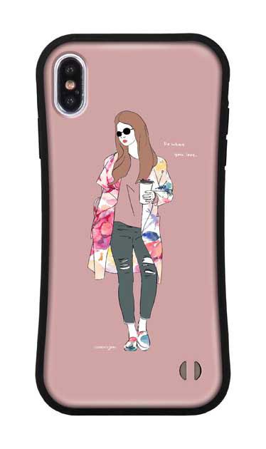 iPhoneXS Maxのグリップケース、モードガール「Do what you love」【スマホケース】
