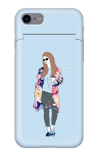 iPhone8のミラー付きケース、モードガール「Do what you love」【スマホケース】