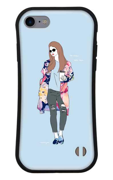 iPhone8のグリップケース、モードガール「Do what you love」【スマホケース】