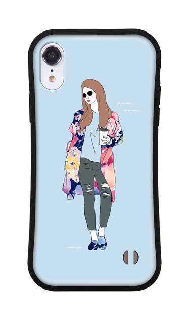 iPhoneXRのグリップケース、モードガール「Do what you love」【スマホケース】