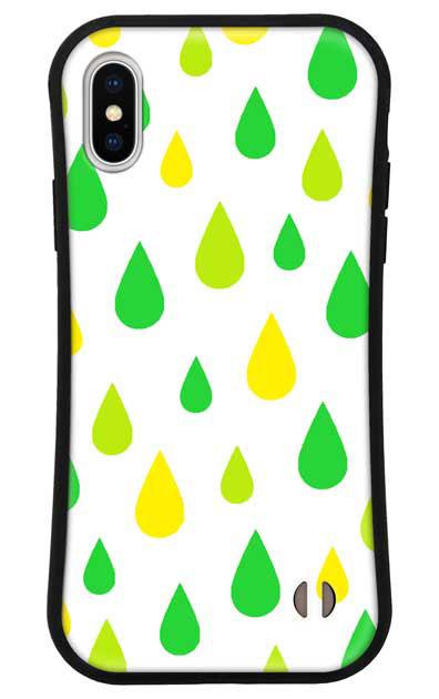 iPhoneXのグリップケース、ビタミンカラードロップス【スマホケース】