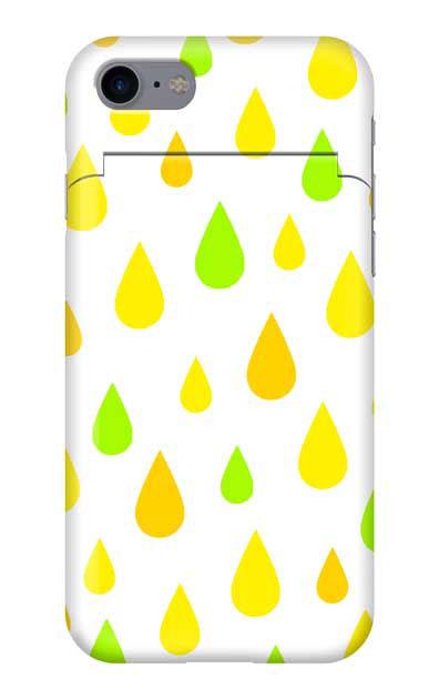 iPhone8のミラー付きケース、ビタミンカラードロップス【スマホケース】