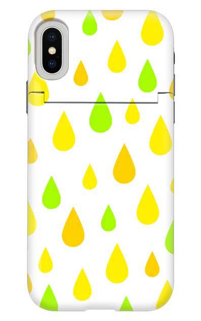 iPhoneXのミラー付きケース、ビタミンカラードロップス【スマホケース】