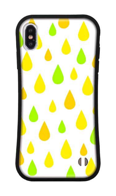 iPhoneXS Maxのグリップケース、ビタミンカラードロップス【スマホケース】