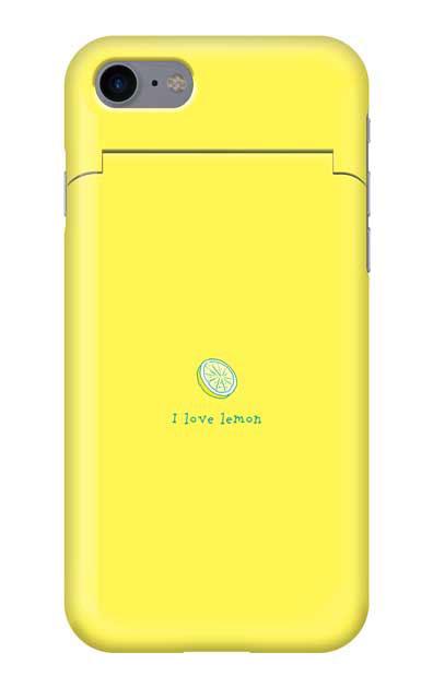 iPhone8のミラー付きケース、I love lemon【スマホケース】