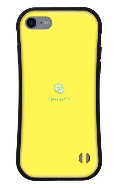 iPhone8のグリップケース、I love lemon【スマホケース】