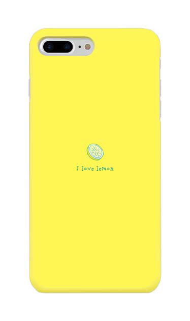iPhone8 Plusのケース、I love lemon【スマホケース】