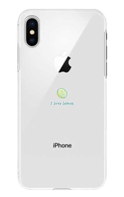 iPhoneXのケース、I love lemon【スマホケース】