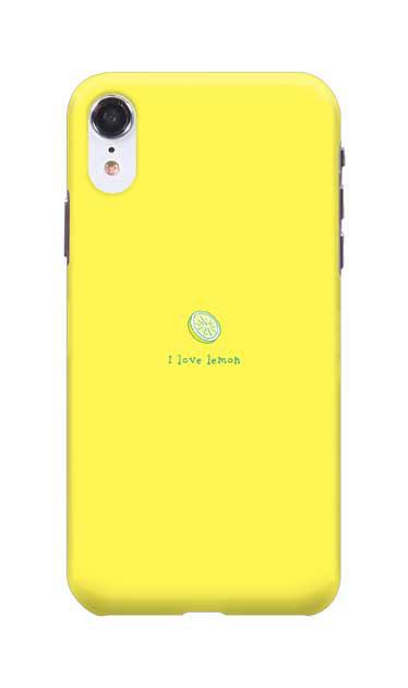 iPhoneXRのハードケース、I love lemon【スマホケース】