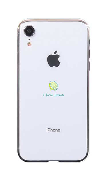 iPhoneXRのケース、I love lemon【スマホケース】