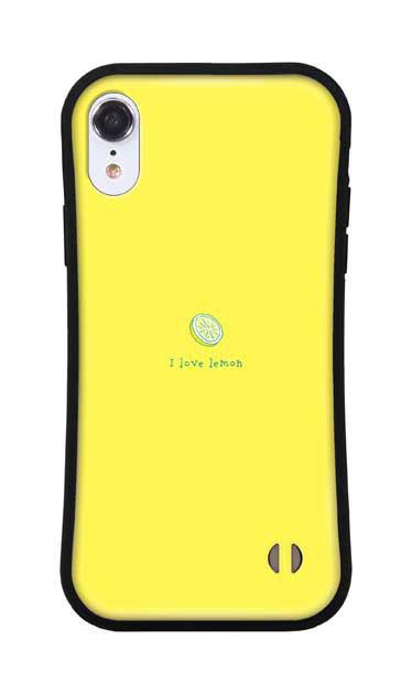 iPhoneXRのグリップケース、I love lemon【スマホケース】