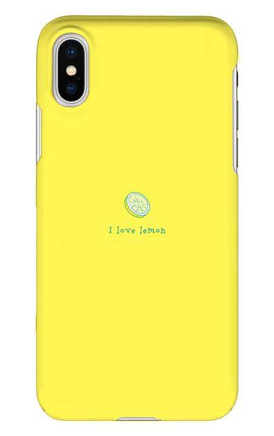 iPhoneXSのハードケース、I love lemon【スマホケース】