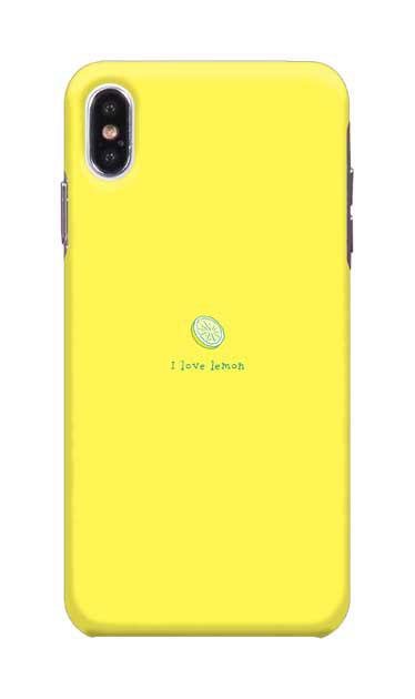 iPhoneXS Maxのケース、I love lemon【スマホケース】