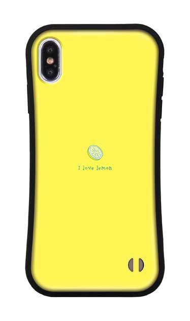iPhoneXS Maxのグリップケース、I love lemon【スマホケース】