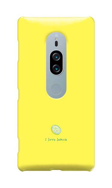 Xperia XZ2 Premiumのケース、I love lemon【スマホケース】