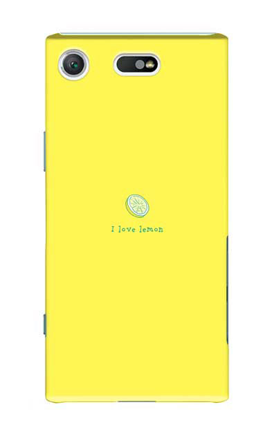 Xperia XZ1 Compactのケース、I love lemon【スマホケース】