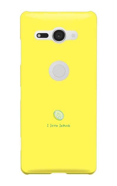 Xperia XZ2 Compactのケース、I love lemon【スマホケース】