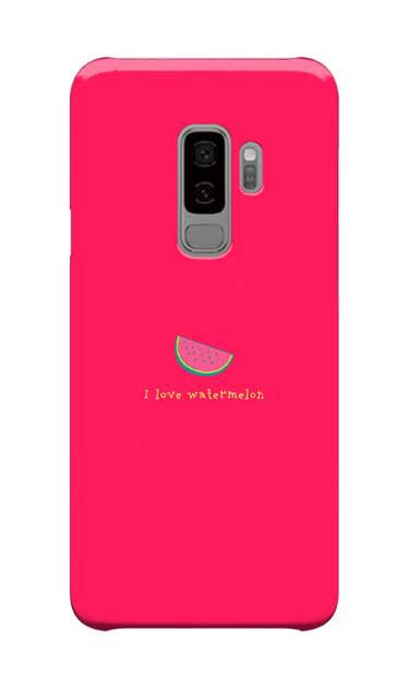 Galaxy S9+のケース、I love watermelon【スマホケース】